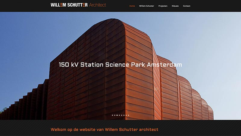 Website Willem Schutter Architect
